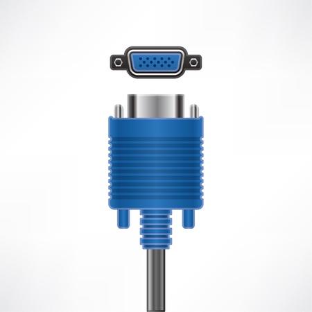 VGA Screen plug and socket