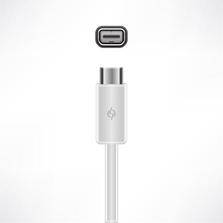 Fast Thunderbolt cable plug socket