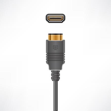 HDMI Video plug socket Vector Illustration