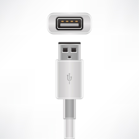 USB type A plug & socket