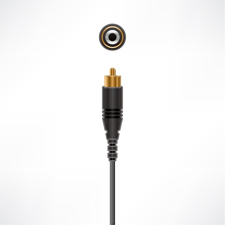 Coaxial Audio Cable plug & socket