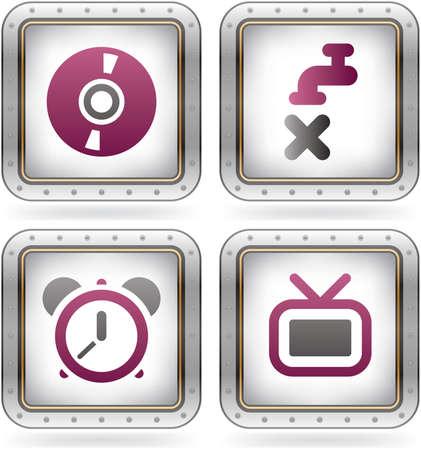 cronógrafo: Varios iconos de Internet