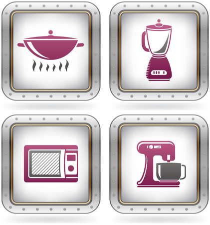 utencilios de cocina: Diario cocina utensilios & herramientas Vectores