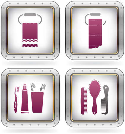 Bathroom Utensils and other related everyday things Illustration