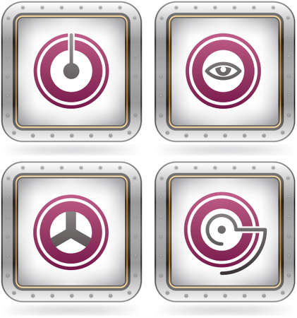 Bunch of abstract web icons for general use Vector