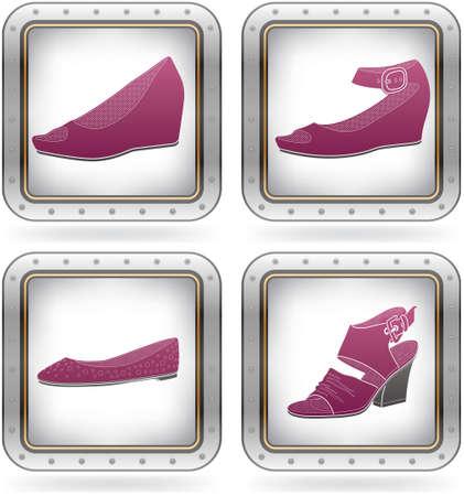 High-helded footwear Vector