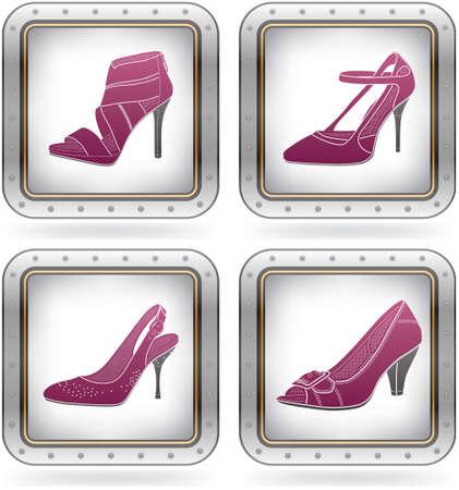 high heeled shoes: High-helded footwear