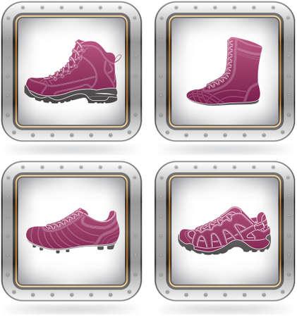 Sports footwear Vetores