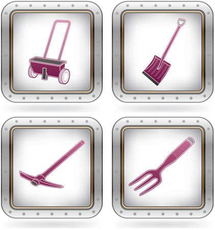 gold shovel: Miscellaneous Gardening hand tools