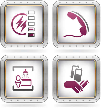 Various camping icons Stock Vector - 10795514