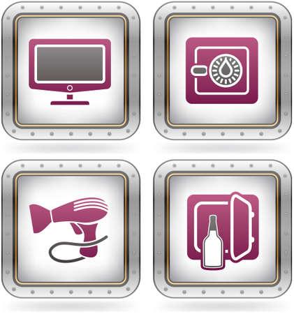 mini bar: Various camping icons