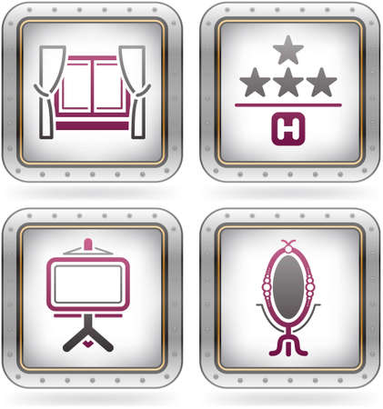 Vaus camping icons Stock Vector - 10795519