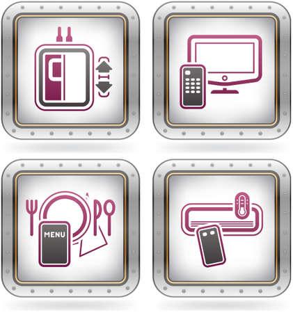 Various camping icons