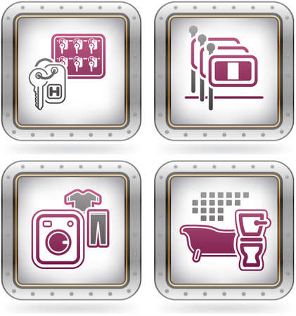 Various camping icons Vector