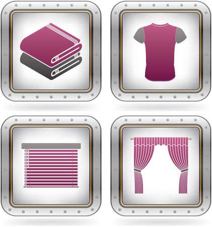 t square: Various fashion icons Illustration