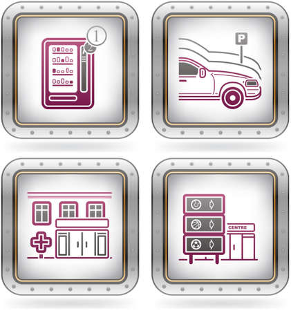 vending: Various hotel icons