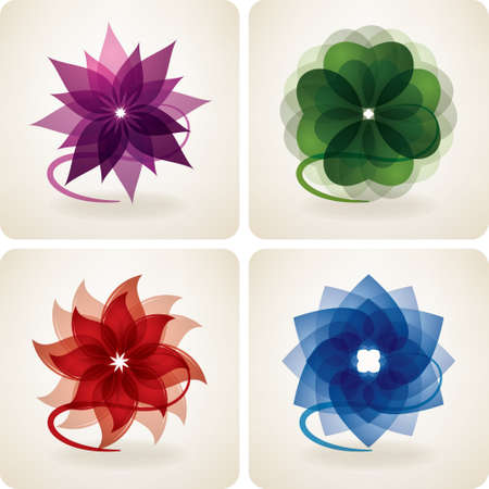 Abstract flower icons Stock Vector - 11125613
