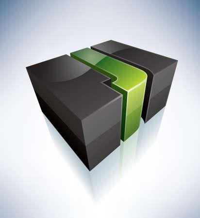 letter j: 3D J green logo letter Illustration