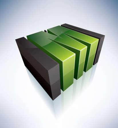 logo icons: 3D M green logo letter