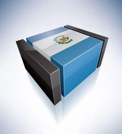 guatemala: 3D Flag of Republic of Guatemala