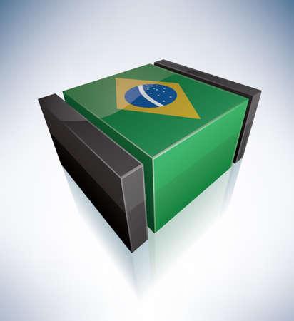 federative republic of brazil: 3D: Federative Republic of Brazil Illustration