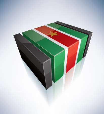 Suriname: 3D: Republic of Suriname Illustration