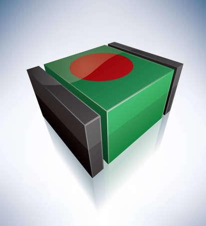 bangladesh 3d: Republic of Bangladesh Illustration