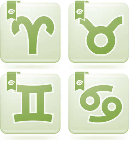 ZodiacAstrology Symbols Icons Set Vector