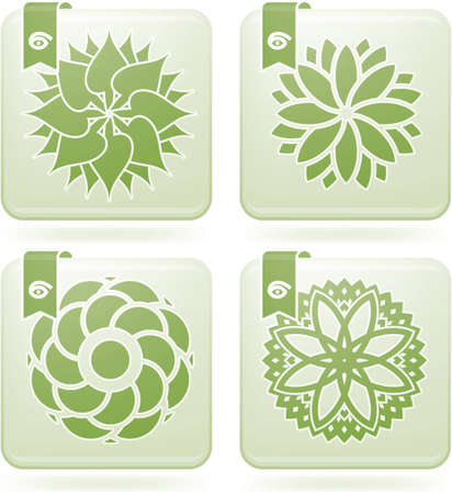 olivine: Abstract Flowers Icons Set