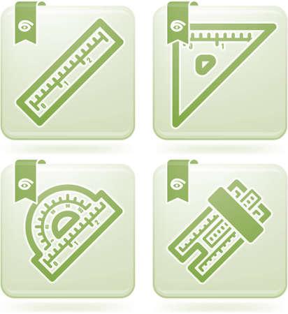 setsquare: Office Supply Icons Set
