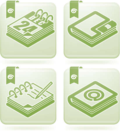Office Supply Icons Set Vector