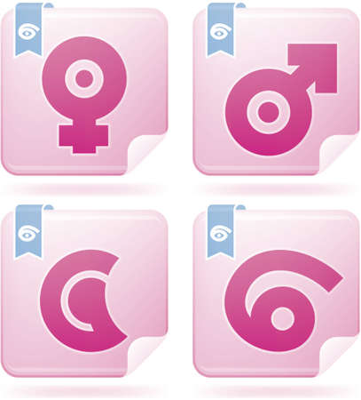 Abstract Zodiac Icons Set Stock Vector - 11567832