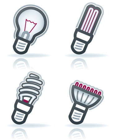 led lighting: Office Supply Icons Set