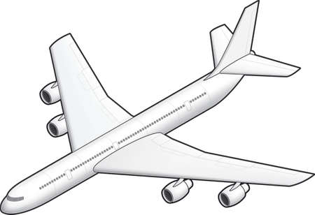 3D Isometric White Airplane Illustration