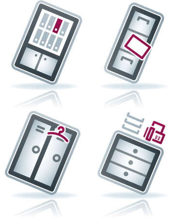 bookstand: Office Supply Icons Set (part of the 22 Degrees Blue Icons Set)