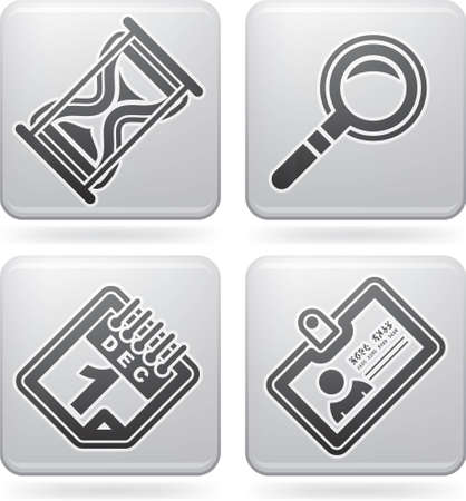 identifier: Office Supply Icons Set