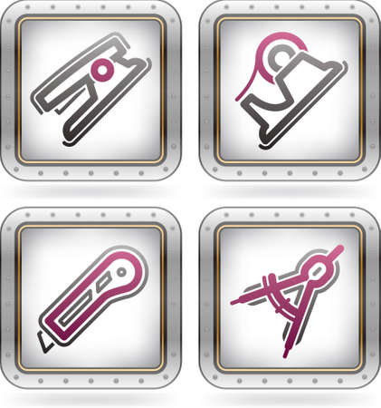 Office Supply Icons Set Stock Vector - 11567906