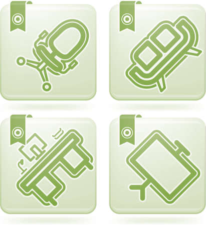 Office Supply Icons Set Stock Vector - 11567950