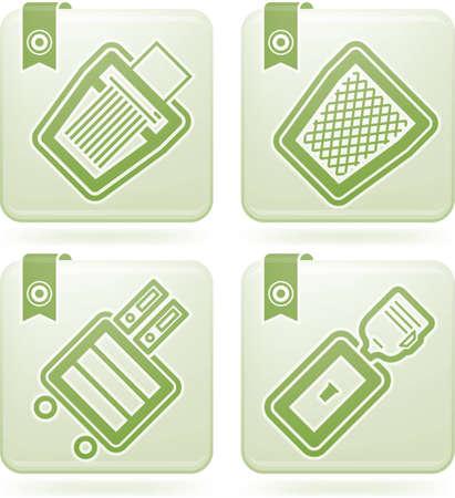 shredder: Office Supply Icons Set