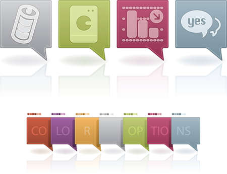 slump: Miscellaneous Web Icons Set Illustration