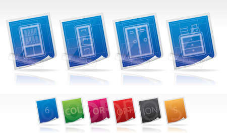 bookstand: Office Supply Icons Set