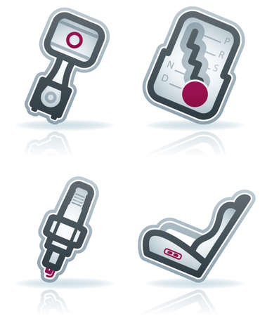 car plug: Car parts and accessories (part of the 22 Degrees Blue Icons Set)