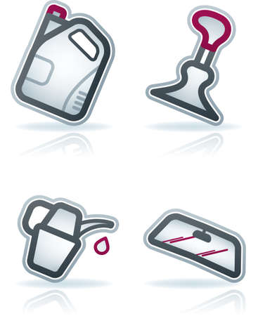 Car parts and accessories (part of the 22 Degrees Blue Icons Set)  Icons set saved as an Adobe Illustrator version 8 file format easy to edit, resize or colorize. Files are created in CMYK color space safe for prints and easy to convert to RGB color space Vector