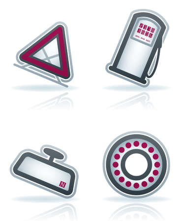 pomp: Car parts and accessories (part of the 22 Degrees Blue Icons Set)