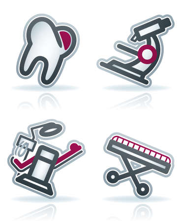 dental chair: Healthcare  22 degrees blue icons