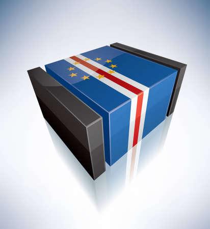 cape verde: Three-dimensional Flag of Africa: Cape Verde