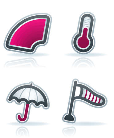 Weather Icons Set Stock Vector - 12797929