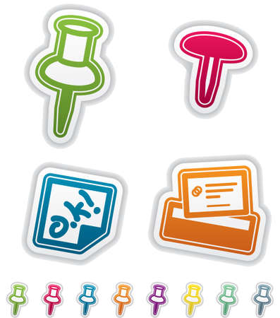 office supply: Office Supply Objects Illustration