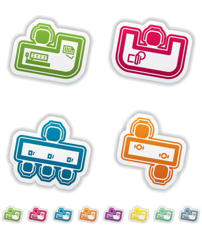 Office Supply Objects Illustration