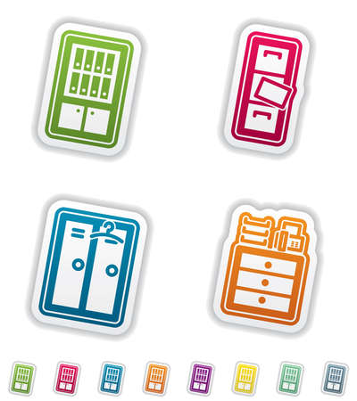 bookstand: Office Supply Objects Illustration